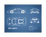 Ferrari Enzo-Blue Giclée-Druck von Mark Rogan