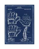Baseball Glove, 1909-Blue I Giclee Print by Bill Cannon