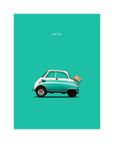 BMW Isetta 300 Red Giclee Print by Mark Rogan