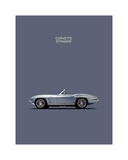 Corvette 1965 Grey Giclee Print by Mark Rogan