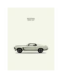 Mark Rogan - Ford Mustang Boss302 1969 Digitálně vytištěná reprodukce