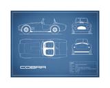 Cobra-Blue Giclée-tryk af Mark Rogan