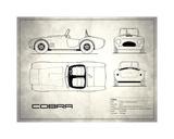 AC Cobra White Giclée-tryk af Mark Rogan
