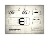 AC Cobra White Giclee Print by Mark Rogan