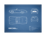 Mercedes 190-SL-Blue Giclee Print by Mark Rogan
