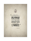 Millennium Falcon Giclee Print by Mark Rogan