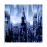 NYC - Reflections in Blue I Impressão giclée por Kate Carrigan