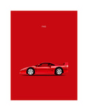 Ferrari F40 Giclee Print by Mark Rogan