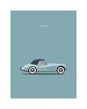 Jaguar XK140 Blue Reproduction procédé giclée par Mark Rogan