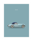 Jaguar XK140 Blue Giclee Print by Mark Rogan