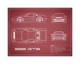 Ferrari 328-GTB-Maroon Giclee Print by Mark Rogan