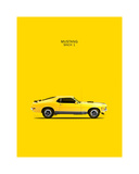 Ford Mustang Mach1 1970 Giclee Print by Mark Rogan