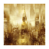NYC - Reflections in Gold I Giclée-tryk af Kate Carrigan