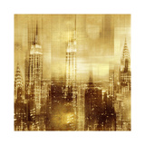 NYC - Reflections in Gold II Giclée-Druck von Kate Carrigan