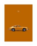 Porsche 911 1968 Orange Giclee-trykk av Mark Rogan