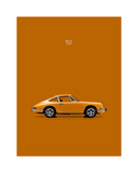 Porsche 911 1968 Orange Giclee Print by Mark Rogan