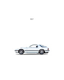 Mazda RX7 1988 Giclee Print by Mark Rogan