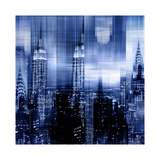 NYC - Reflections in Blue II Giclée-tryk af Kate Carrigan