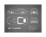 Jaguar E-Type-Grey Impression giclée par Mark Rogan