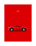 Ferrari Dino 246GT 69 Red Giclee Print by Mark Rogan