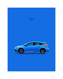 Ford Focus RS Giclee Print by Mark Rogan