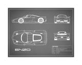 Ferrari Enzo-Grey Giclee Print by Mark Rogan