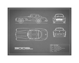 Mercedes 300SL Gullwing-Grey Giclee Print by Mark Rogan