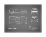 Mercedes 190-SL-Grey Giclee Print by Mark Rogan