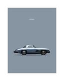 Mercedes 300SL 1960 Giclee Print by Mark Rogan