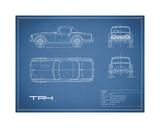 Mark Rogan - Triumph TR4-Blue - Giclee Baskı