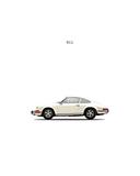 Mark Rogan - Porsche 911E 1968 White Digitálně vytištěná reprodukce