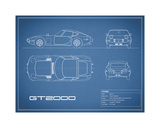 Toyota GT2000-Blue Giclee Print by Mark Rogan