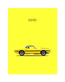 Mustang Shelby GT350 69 Yellow Giclee Print by Mark Rogan