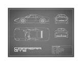 Porsche Carrera GTS-Grey Giclee Print by Mark Rogan