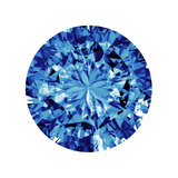 Shine On in Blue Giclee Print by Jan Tatum