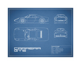Porsche Carrera GTS-Blue Giclee Print by Mark Rogan