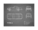Triumph TR4-Grey Giclee Print by Mark Rogan