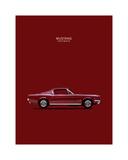 Mustang Fastback 65 Giclée-Druck von Mark Rogan