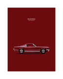 Mustang Fastback 65 Giclee Print by Mark Rogan