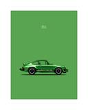Porsche 911 Carrera Green Giclee-trykk av Mark Rogan