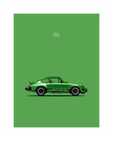 Porsche 911 Carrera Green Giclee Print by Mark Rogan