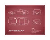 Toyota GT2000-Maroon Giclee Print by Mark Rogan