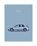Mitsubishi Lancer Evo. VIII Giclee Print by Mark Rogan