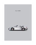 Porsche 911 Turbo Grey Giclée-Druck von Mark Rogan
