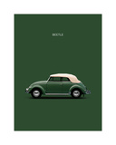 VW Beetle Green 53 Giclee Print by Mark Rogan