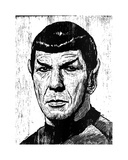 Spock Giclee Print by Neil Shigley