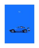 Porsche 911 Turbo Blue Giclee Print by Mark Rogan