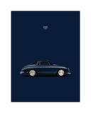 Porsche 356 1958 Blue Giclee Print by Mark Rogan