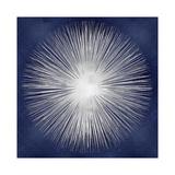Silver Sunburst on Blue I Giclée-Druck von Abby Young