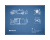 Mercedes SSK-Blue Giclee Print by Mark Rogan